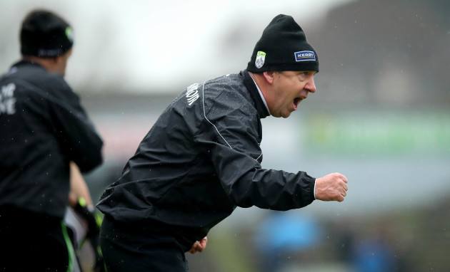 Peter Keane celebrates a late score