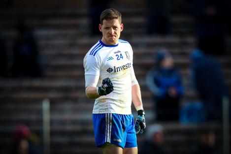 Conor McManus celebrates at the final whistle