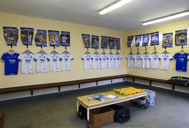 A general view of the Waterford dressing room prior to the game