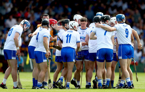 The Waterford team huddle