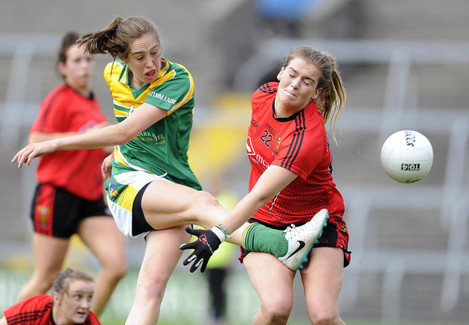 Aine Tighe scores with a goal Megan Doherty