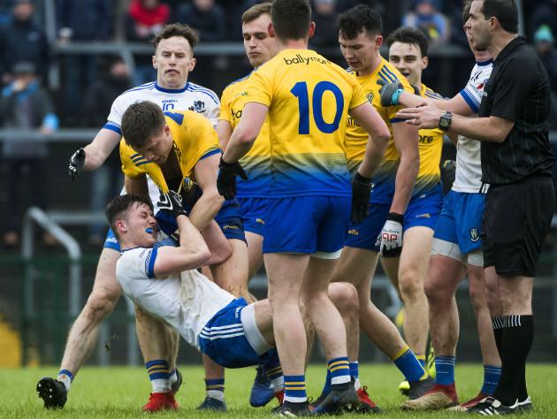 Ronan Daly and Dessie Ward clash