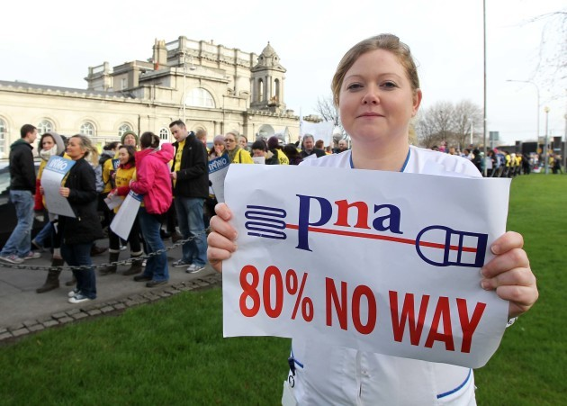 File Photo 6,000 members of the Psychiatric Nurses Association (PNA) will refuse to work overtime today and tomorrow in their dispute over pay and staffing End.