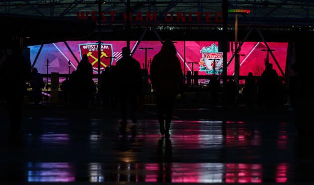 West Ham United v Liverpool - Premier League - London Stadium