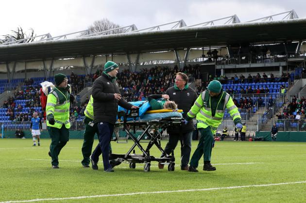 Alison Miller goes off injured
