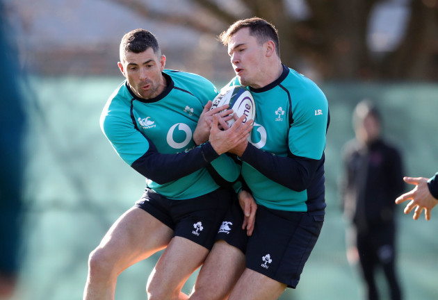 Rob Kearney and Jacob Stockdale