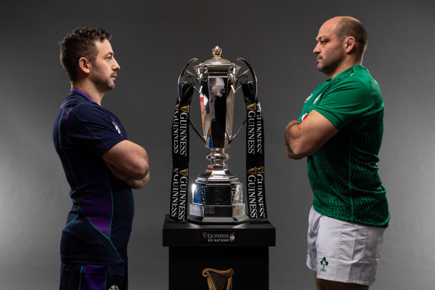 Greig Laidlaw with Rory Best