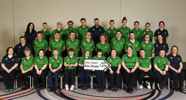 Special Olympics Ireland official launch Team Ireland for the 2019 Word Summer Games