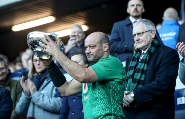 Rory Best lifts the Centenary Quaich