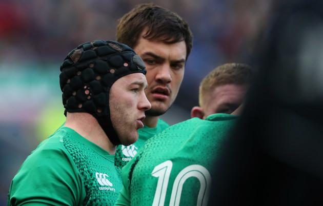 Ireland's Sean O'Brien and Quinn Roux