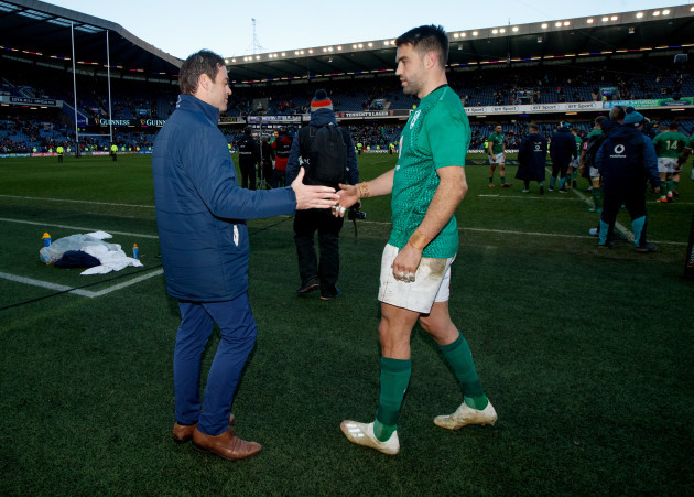 Johann van Graan and Conor Murray after the game