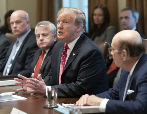 United States President Donald J. Trump participates in a Cabinet Meeting