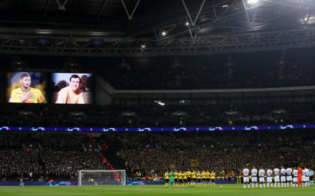 Tottenham Hotspur v Borussia Dortmund - UEFA Champions League - Round of 16 - First Leg - Wembley Stadium