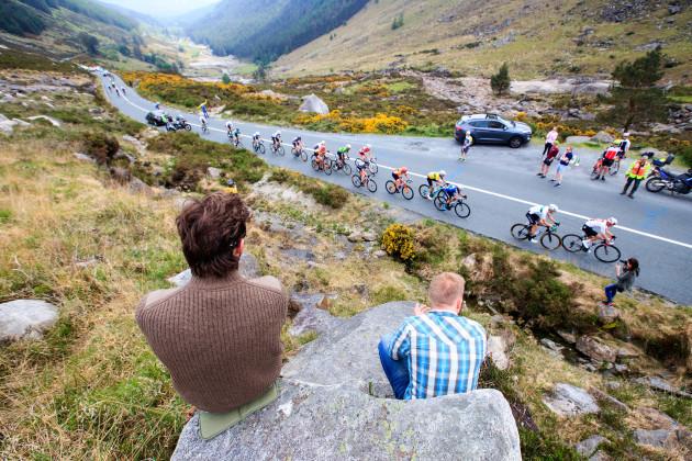 Riders on Wicklow Gap Category 1 KOM