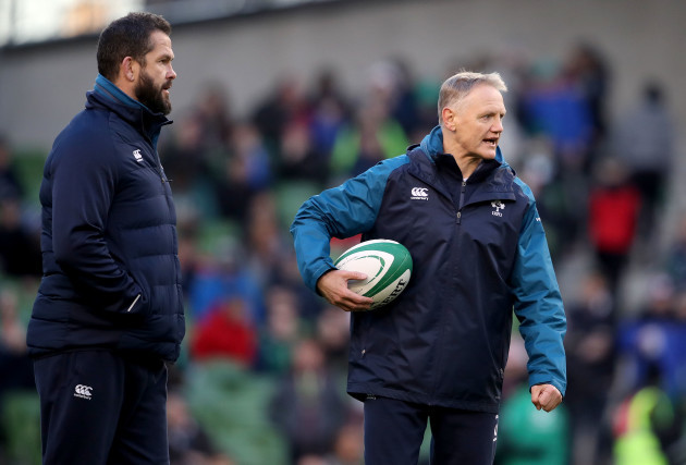 Andy Farrell with Joe Schmidt