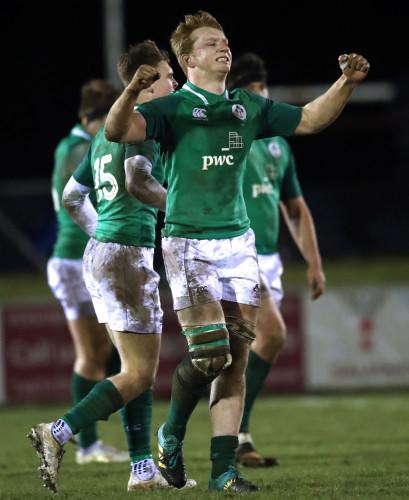 Martin Moloney celebrates at the final whistle