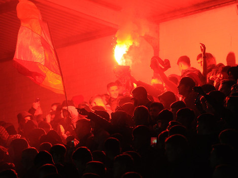 St Patrick's Athletic supporters celebrate