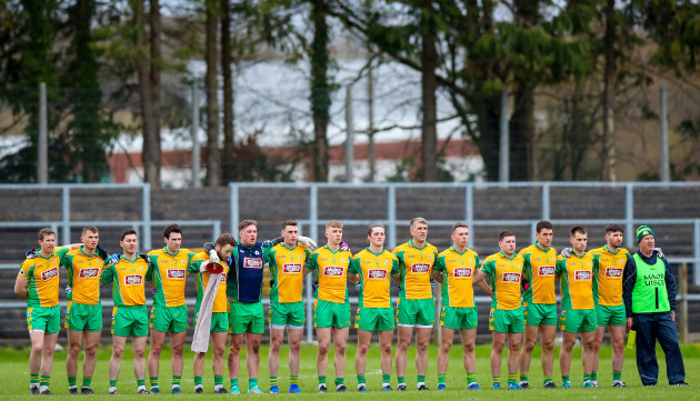 Corofin stand for the national anthem