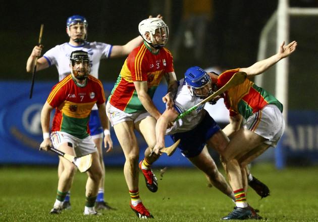 Jack Murphy tackles Conor Prunty