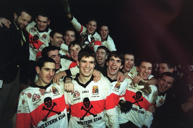 UCC's players celebrate 12/12/1999