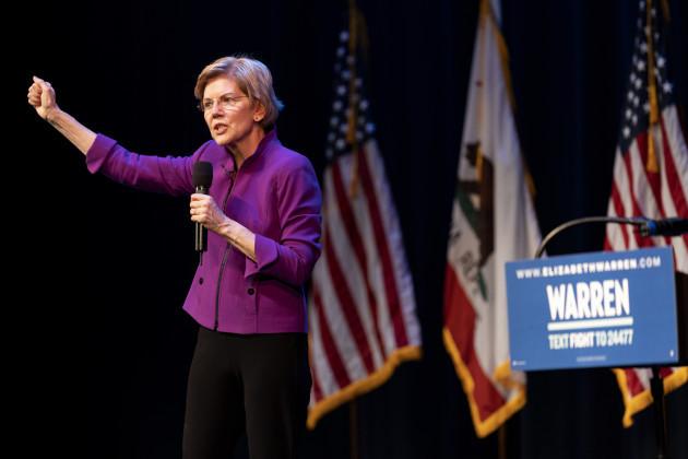 CA: Elizabeth Warren Presidential Campaign Rally