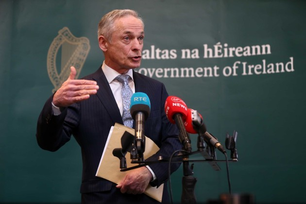 File photo the Minister for Communications Richard Bruton has said that nurses pay will only be discussed in the context of an agreement that is collectively negotiated. End.