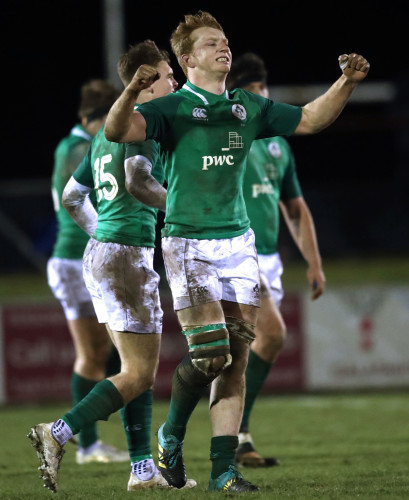 Martin Moloney celebrates at the final whistle