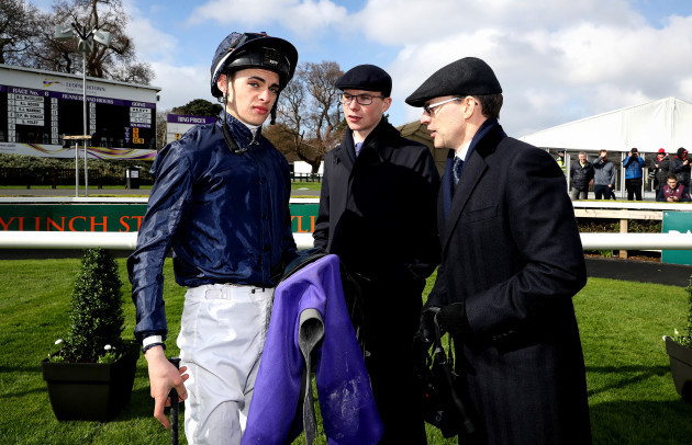 Donnacha O'Brien with Joseph and Aiden O'Brien 14/4/2018