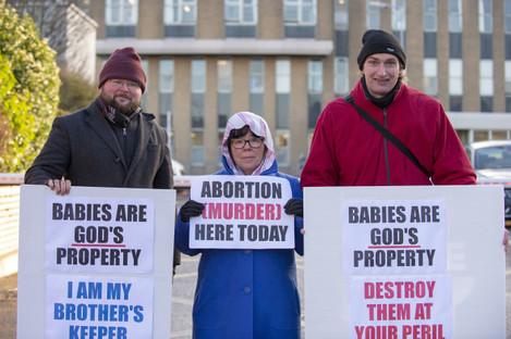 Anti Abortion Presence Outside OLOL Hospital 1