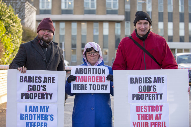 Anti Abortion Presence Outside OLOL Hospital 1