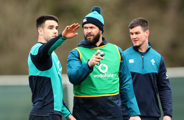 Conor Murray and Andy Farrell