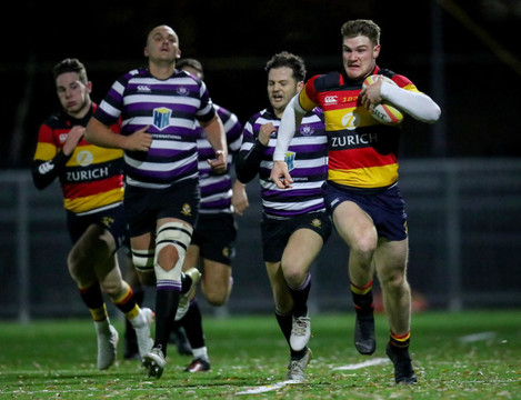 Peter Sullivan on his way to scoring a try