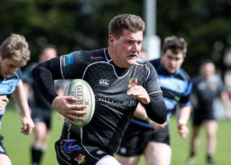 Roger McBurney breaks clear to score an early try