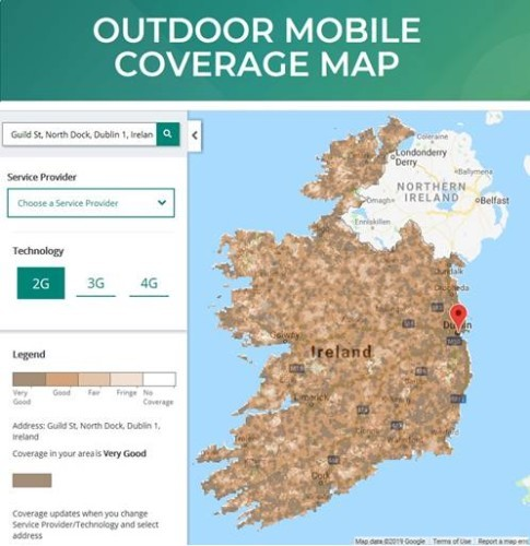Country Of Ireland Map.How Good Is The Phone Coverage Where You Are New Map Shows Quality