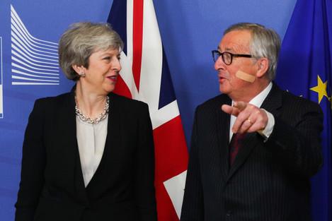BELGIUM-BRUSSELS-EU-JUNCKER-BRITAIN-PM-MEETING