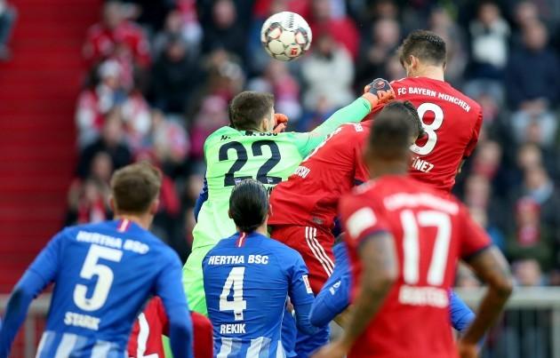 Munchen, Muenchen, firo: 23.02.2019, Football, 1.Bundesliga, Season 2018/2019, FC Bayern Munich - Hertha BSC Berlin