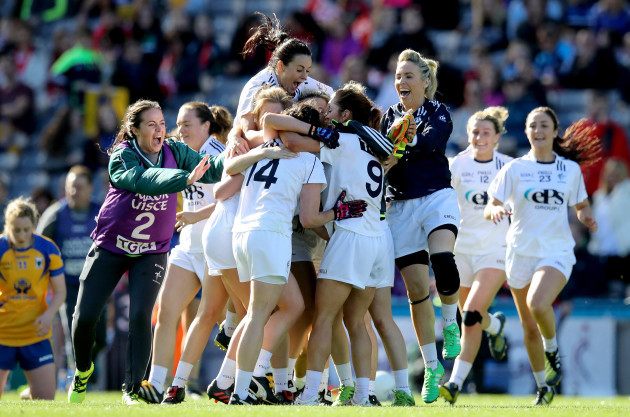 Kildare celebrate at the final whistle