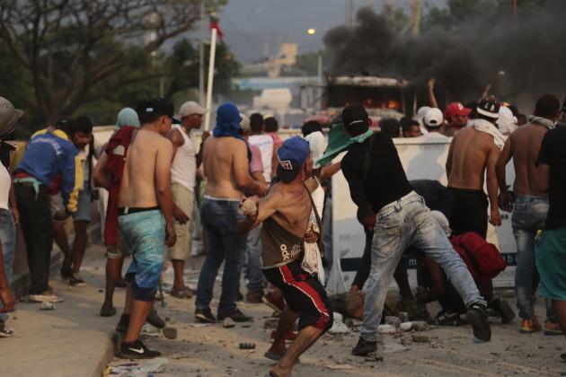 Political crisis in Venezuela - border with Colombia