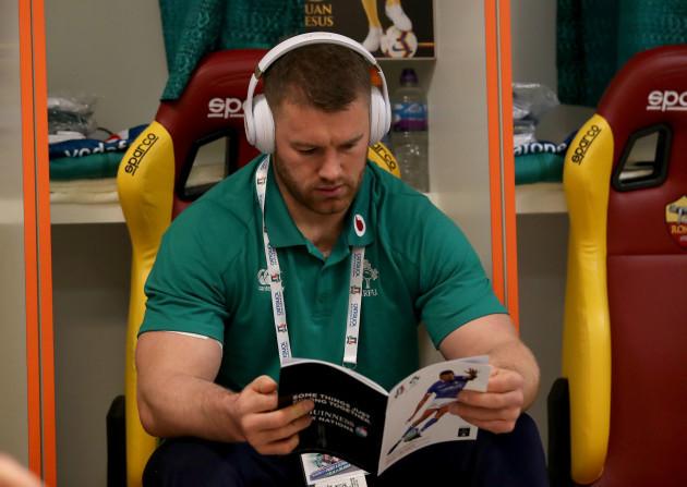 Sean O'Brien before the game