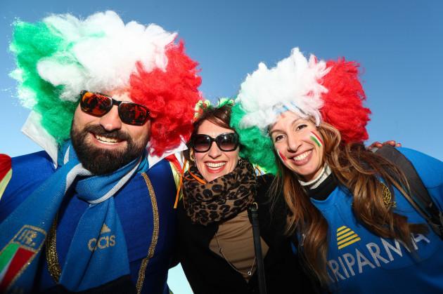 Jannet Keetan from Dublin with Italy fans