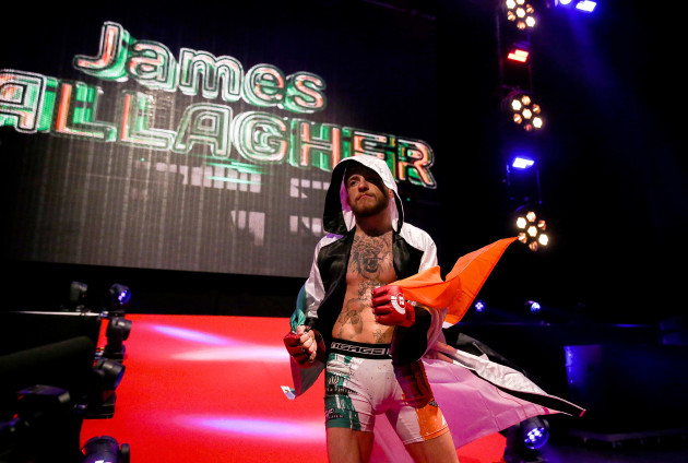 James Gallagher makes his entrance