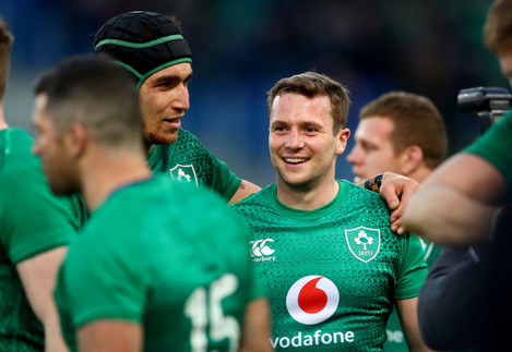 Ultan Dillane and Jack Carty after the game