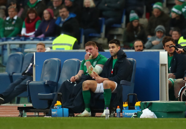 Tadhg Furlong and Conor Murray after been replaced