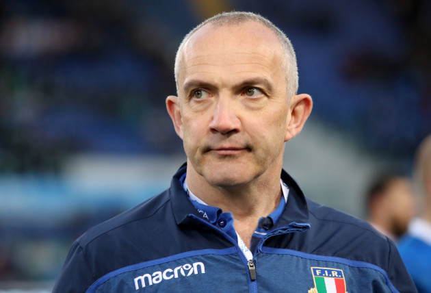 Conor O'Shea dejected after the game