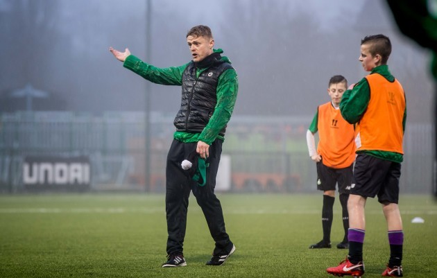 Damien Duff training the U15 boys