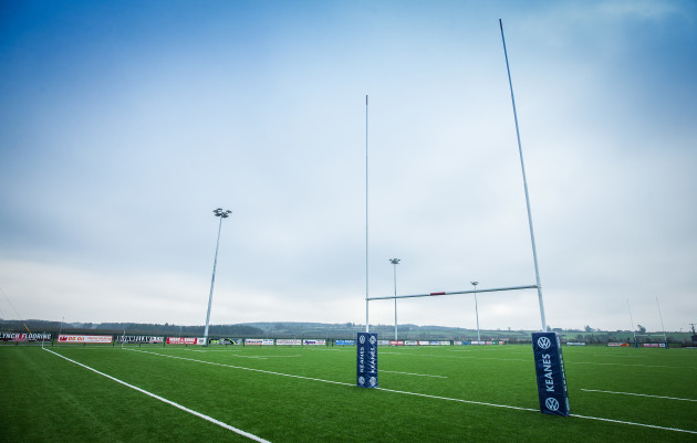 A view of the newly laid pitch at Creggs RFC