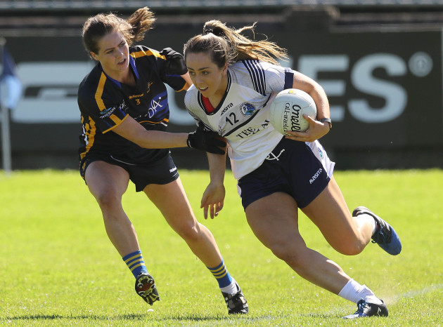 Aisling Sheridan tackled by Maria Curley