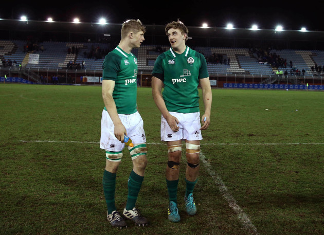 Niall Murray and Charlie Ryan after the game