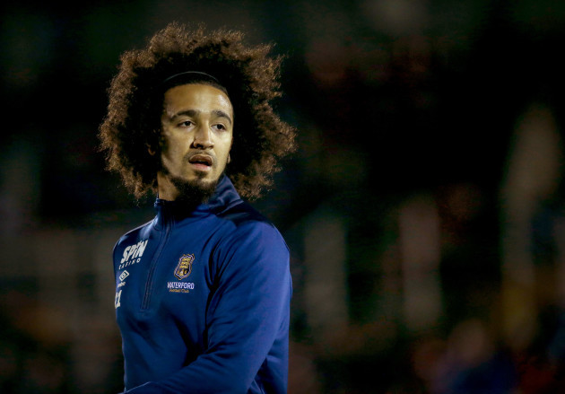 Bastien Hery warms up before the game