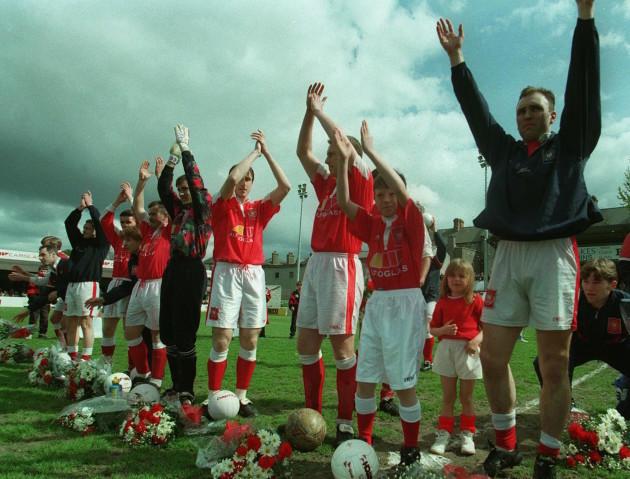 St. Patrick's Athletic team celebrate